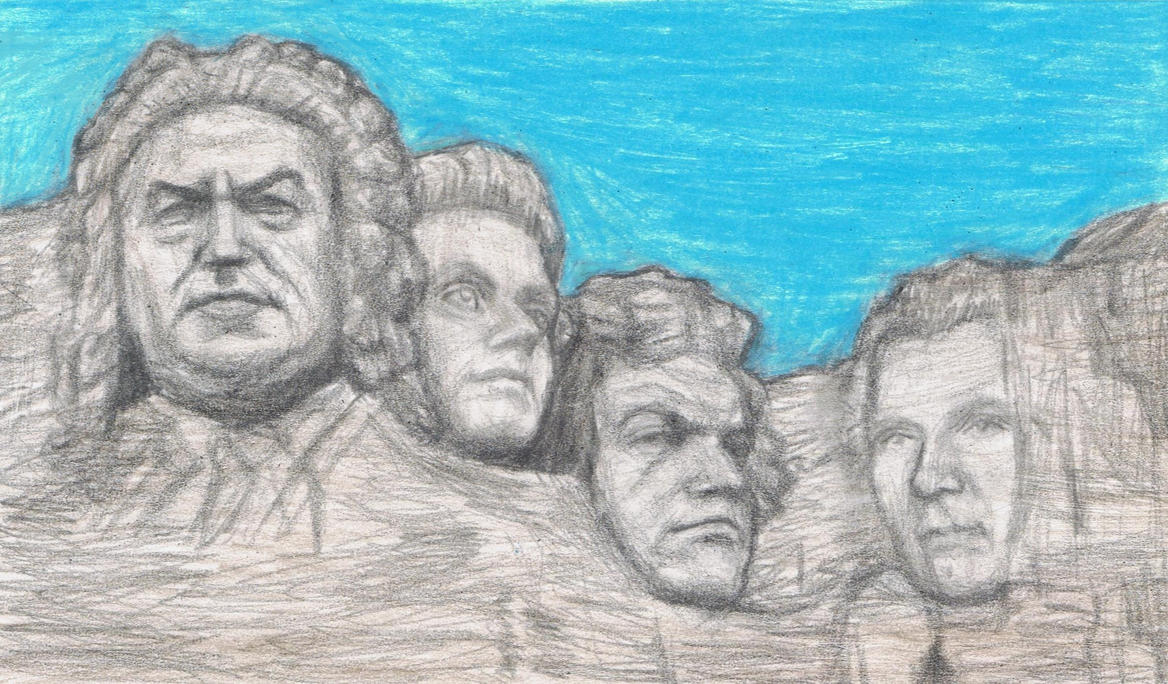 Famous composers on Mt Rushmore by gagambo