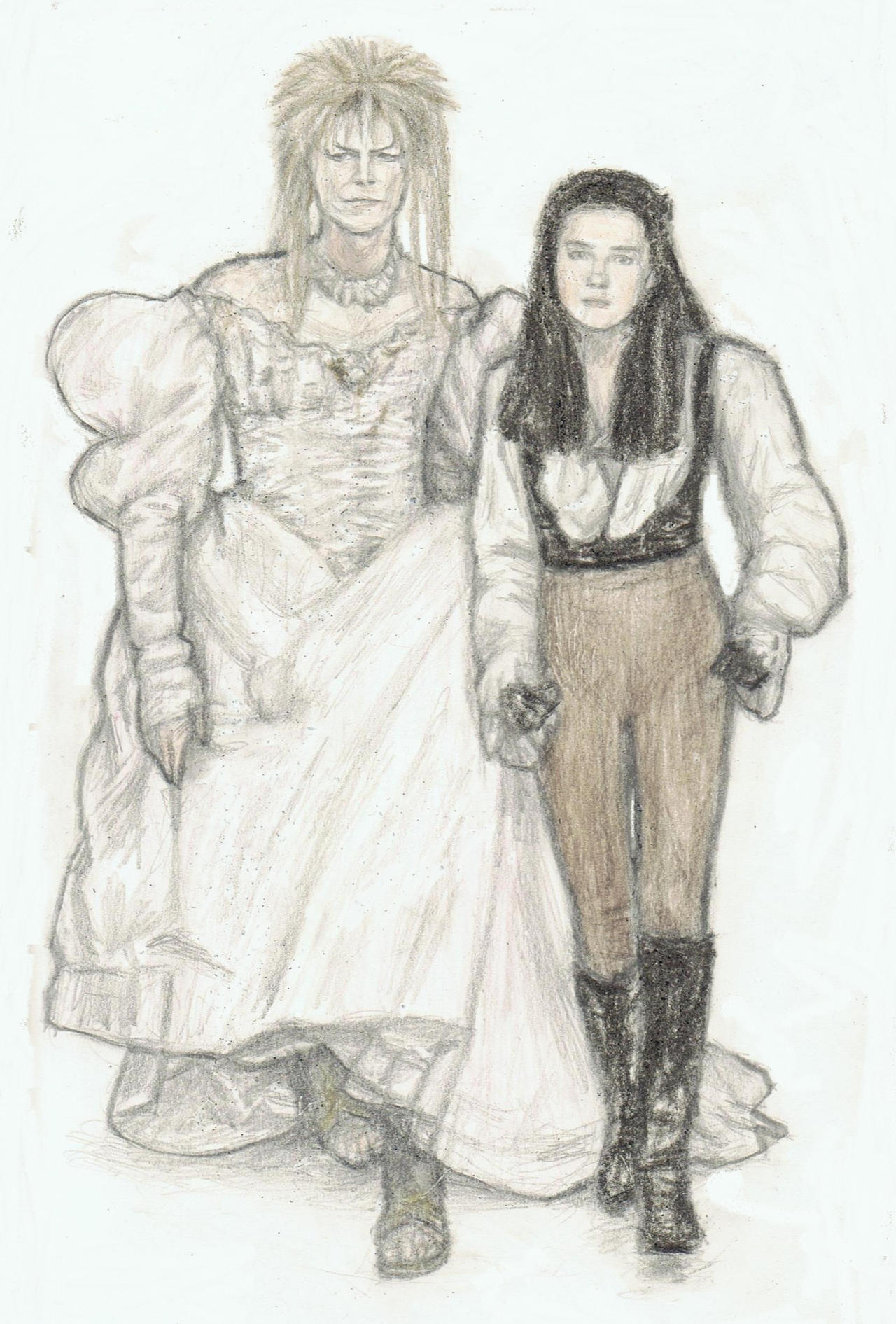 Jareth and Sarah clothes swapping by gagambo
