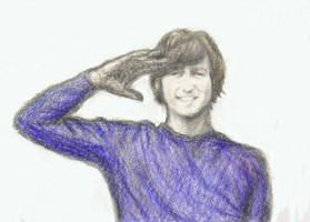John Lennon, 1965, salutes