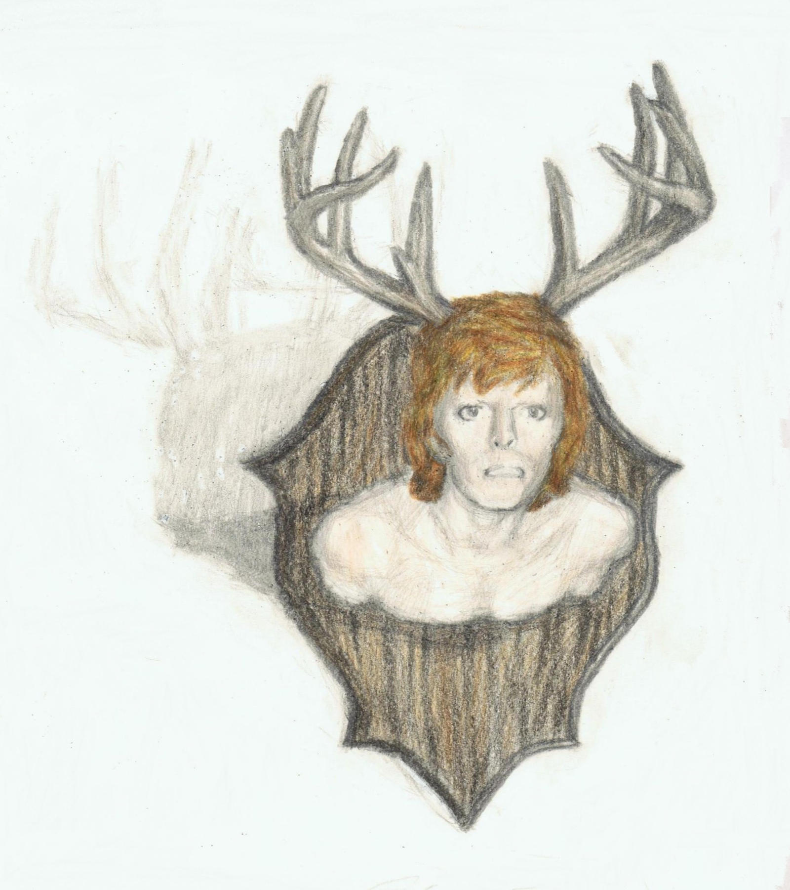 Cracked Actor with antlers 2 by gagambo