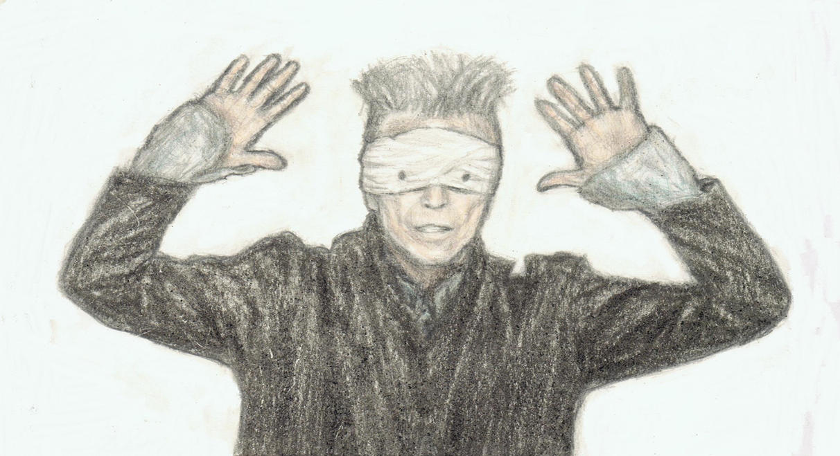 Blackstar with his hands up by gagambo