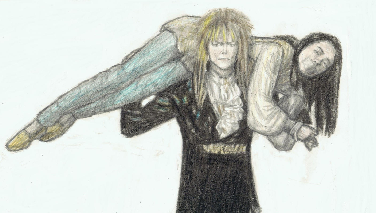Jareth kidnapping Sarah by gagambo on DeviantArt Labyrinth 1986 Wallpaper