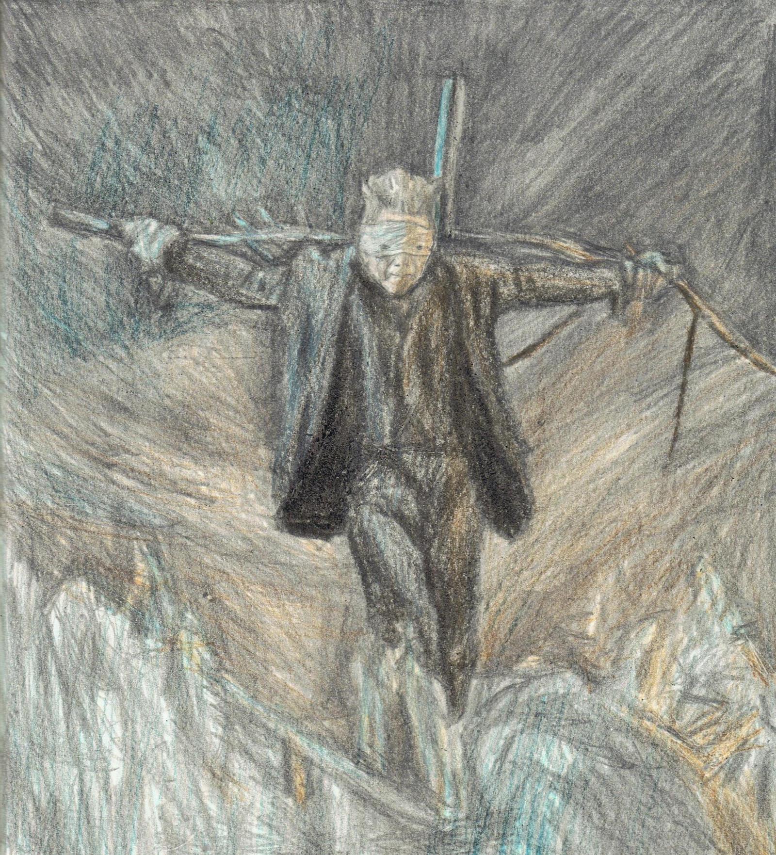 Blackstar as a scarecrow by gagambo