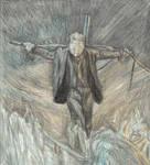Blackstar as a scarecrow