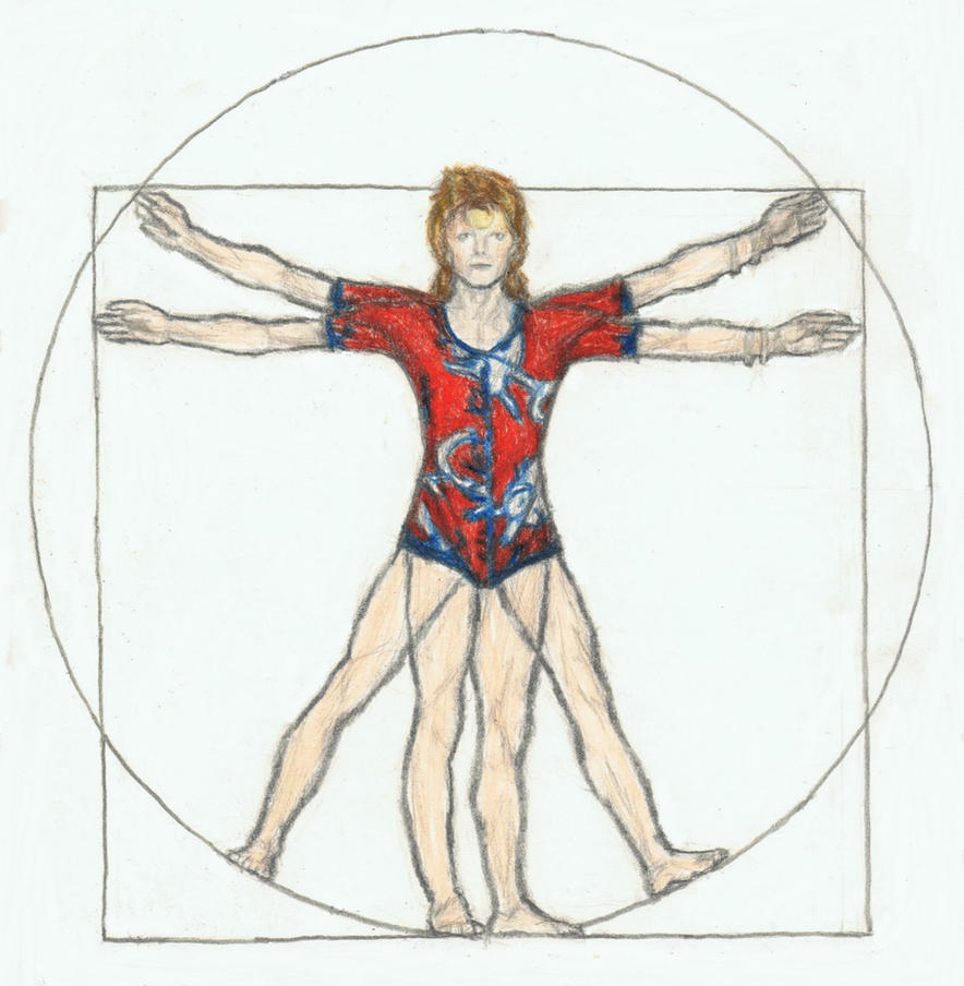 Ziggy Stardust gone da Vinci by gagambo