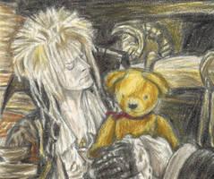 Goblin King holding Lancelot by gagambo