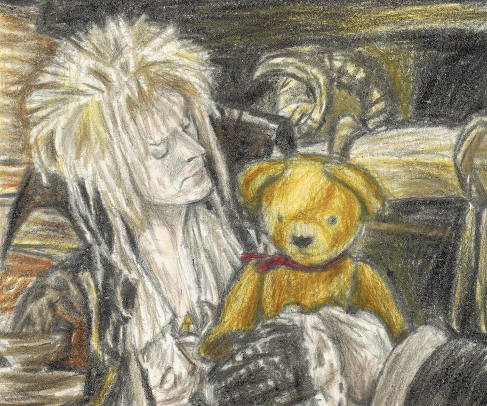 Goblin King holding Lancelot by gagambo