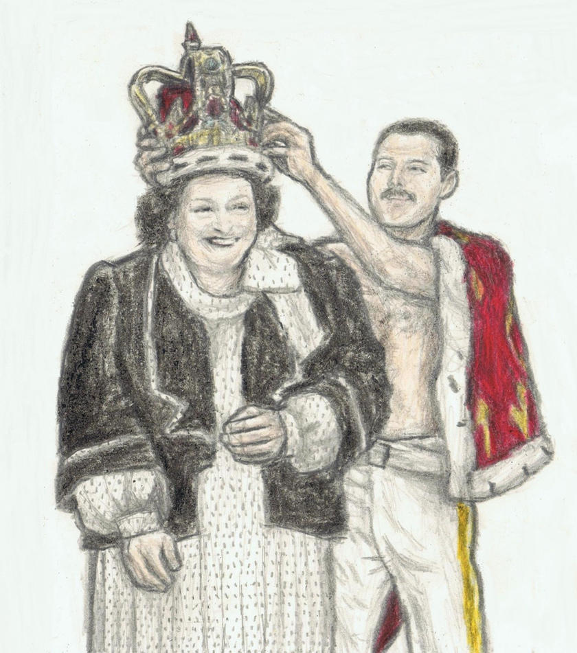 Montsserrat Caballe and Freddie Mercury by gagambo