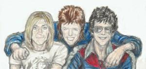 Iggy, Ziggy and Lou by gagambo