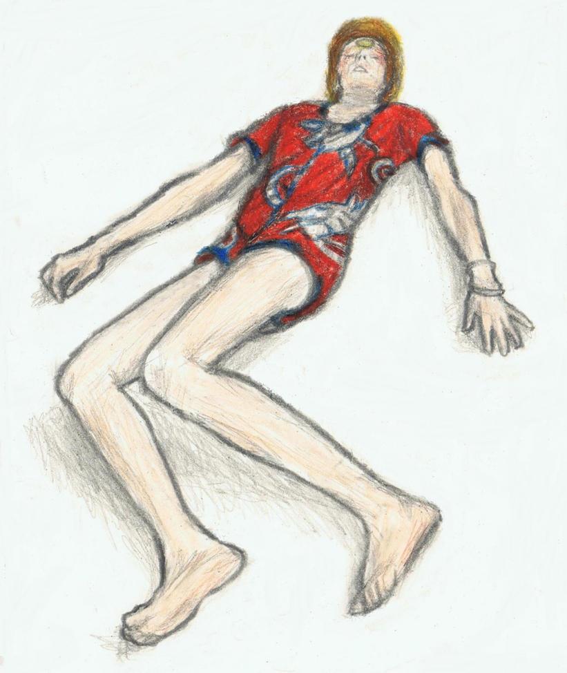 Ziggy Stardust unconscious by gagambo