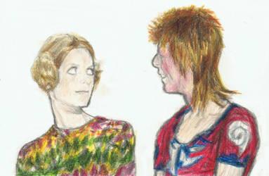 Ziggy Stardust meets Twiggy by gagambo