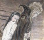 Sarah hugs the Goblin King
