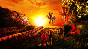 The flower paradise