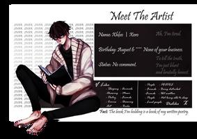 Meet the Artist (+ F.A.Q)