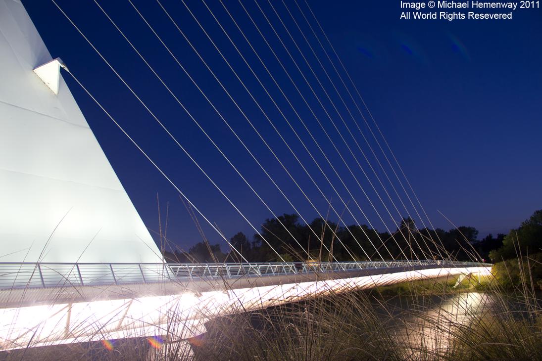 sundial bridge at night by eeveev2 on deviantart