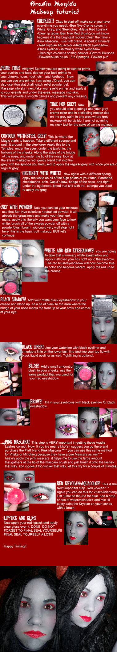 Aradia Megido Makeup Tutorial by MaliceMidnight