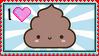 Poo Poo Stamp by LunaDora