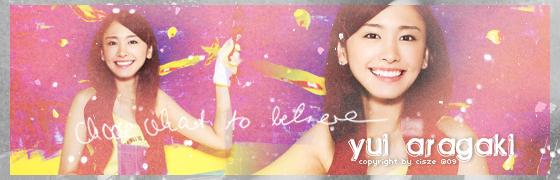 Aragaki Yui banner by ceci0709