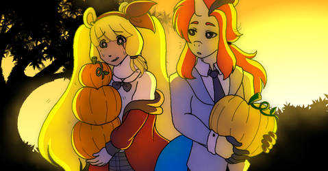 Selisse and Callie Collab Pumpkin Picking