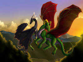 C - Dragon's Flight by Jewel-Thief