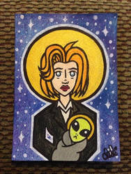 Watching X-Files With No Lights On by spaceradish