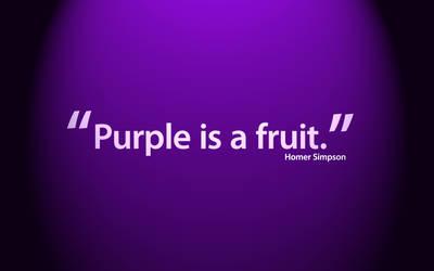 Purple is a Fruit