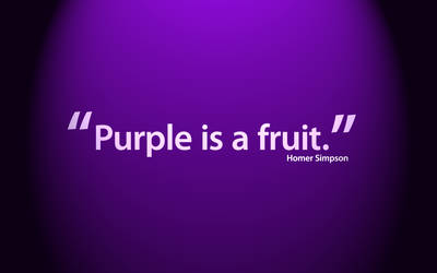 Purple is a Fruit