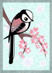 Long Tail Tit on Blossom