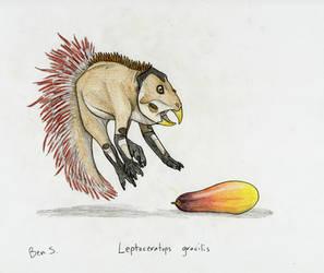 Draw Dinovember day 18 ~ Leptoceratops gracilis by Pterosaur-Freak