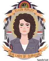 Ellen Ripley by theblamelessflame