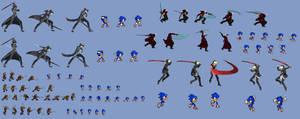 Kirito-Dante-Sora-Hyde to Sonic Sword Conversion