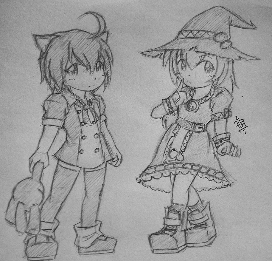 Mita and Witchiko by foresteronly