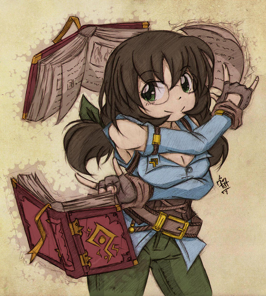 Aluna and Her Instructible Tomes by foresteronly