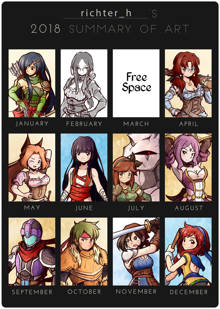 2018 Summary of Art by foresteronly