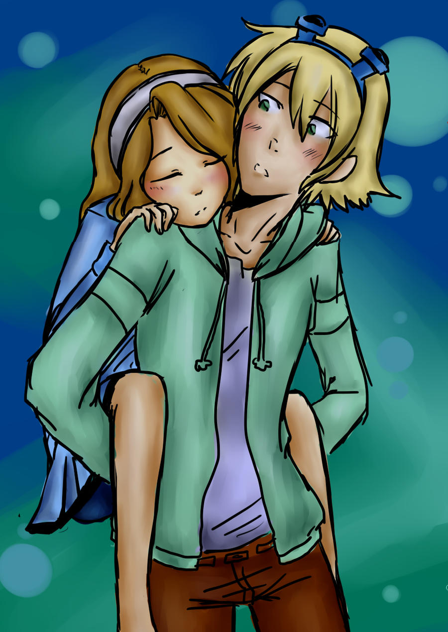 Lux and Ezreal (League of legends) by art358