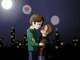 Sam and Dean Chibi Love by Tyrus-San