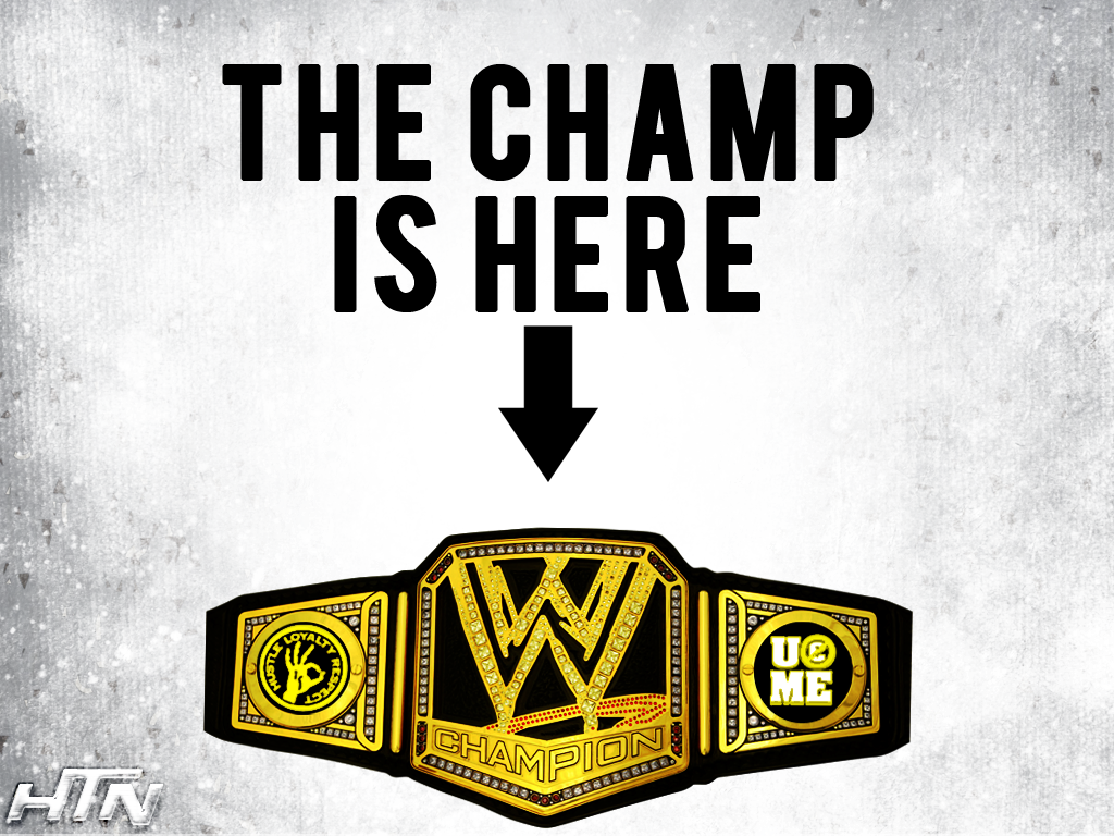 Wwe 2013 John Cena The Champ Is Here Wallpaper By by ...John Cena Wwe Champion 2013 Champ Is Here