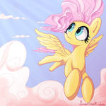 Fluttershy in the clouds