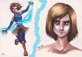 Avatar Korra [copic sketches]