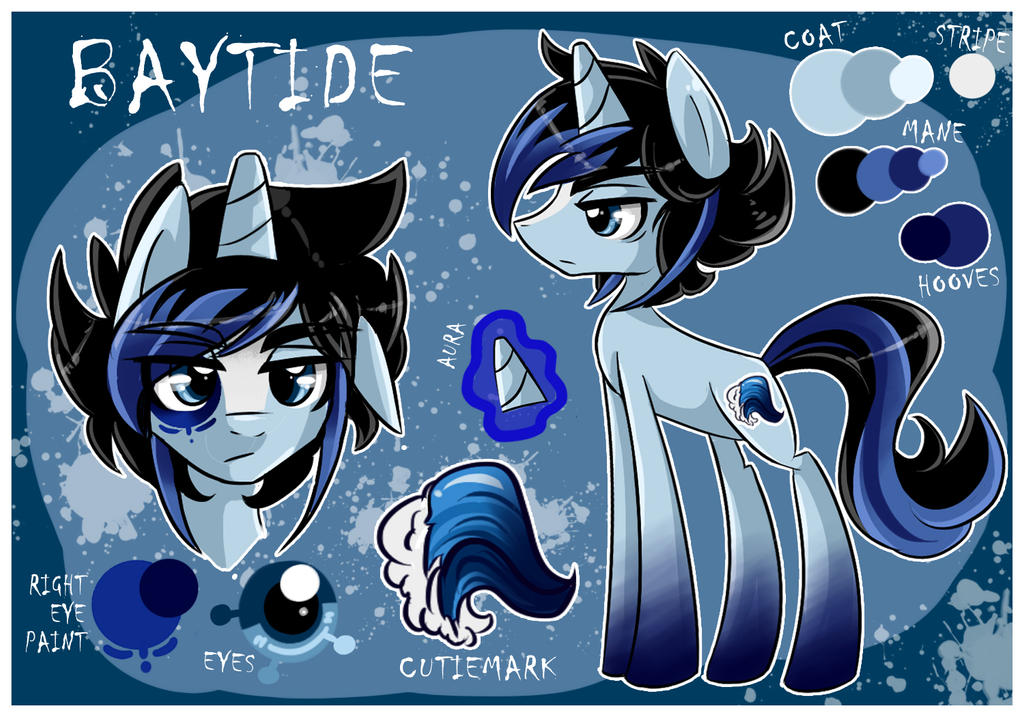 Ref sheet: Baytide by BubblegumBloo