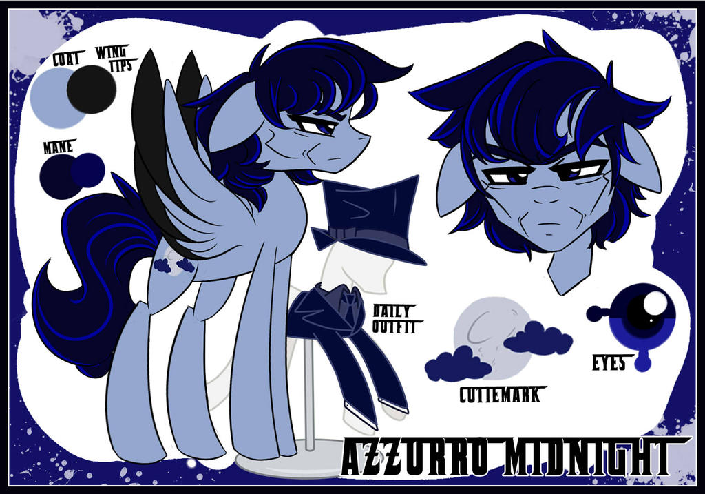 Ref sheet: Azzurro Midnight by BubblegumBloo