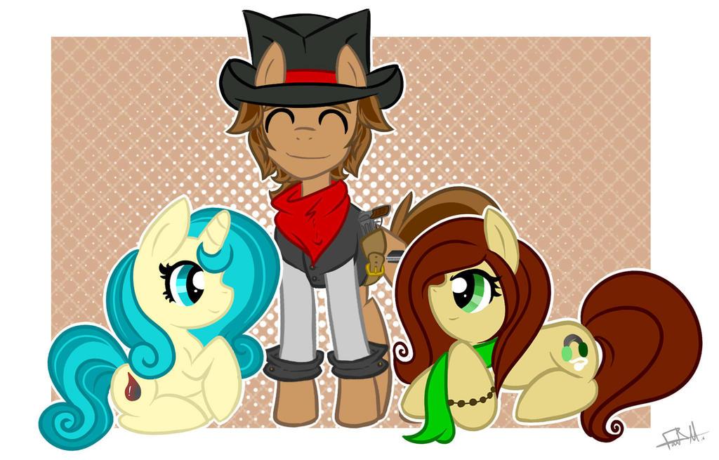 PC: Pony trio by BubblegumBloo