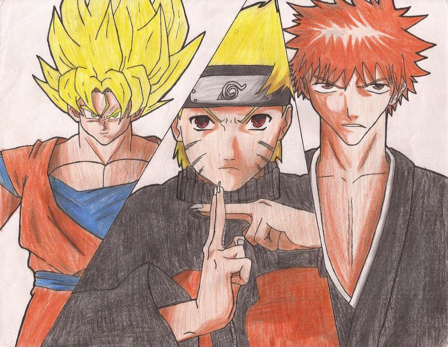 Naruto Goku e Ichigo by SunRahial on DeviantArt