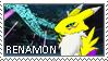 Renamon Stamp 002 by luvini