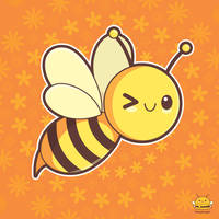 Kawaii Honeybee by honeyburger