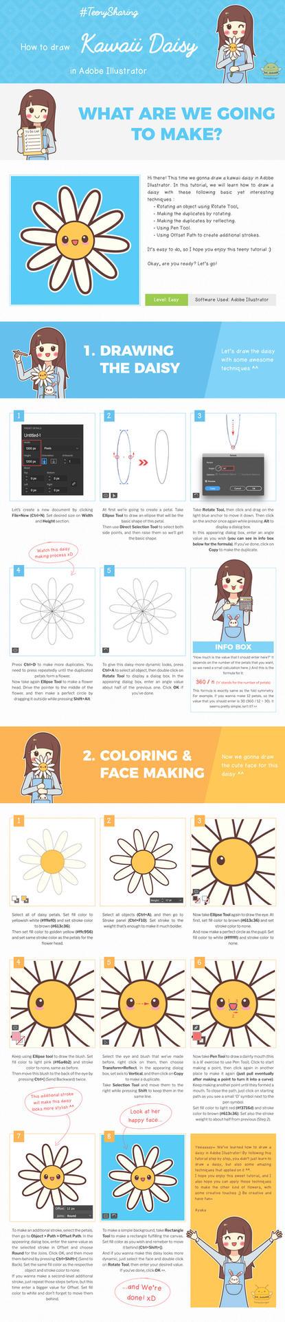 How to Draw Kawaii Daisy by honeyburger