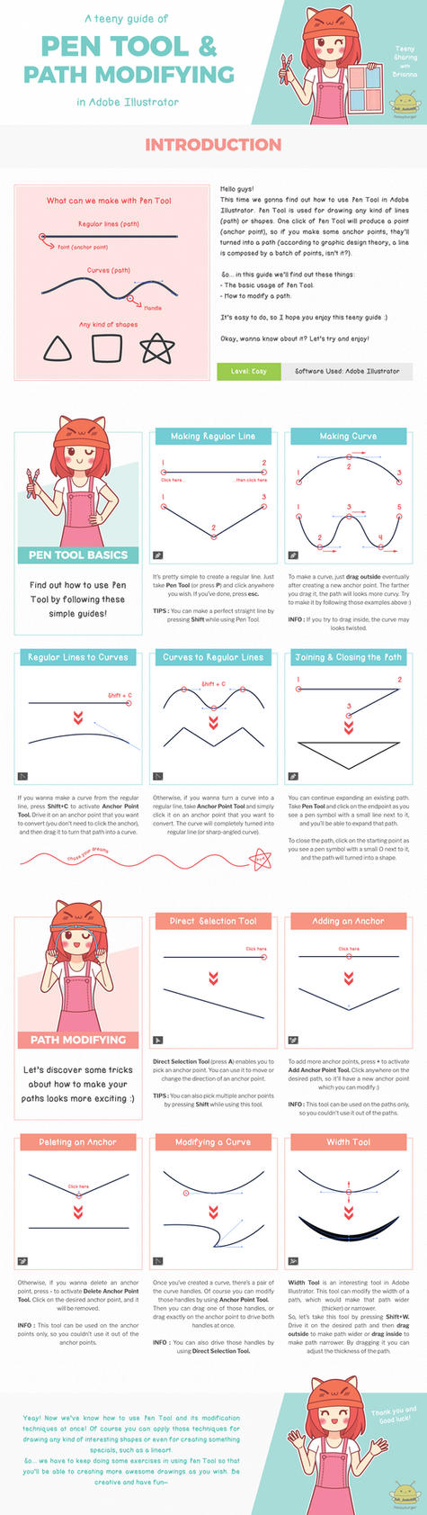 Pen Tool Teeny Guide by honeyburger
