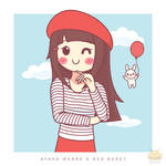 Ayaka in a Red Beret by honeyburger