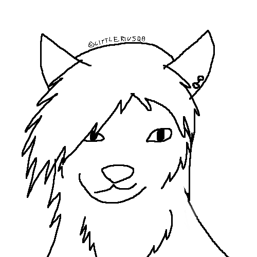 anime wolf lineart. Free dog-wolf lineart by