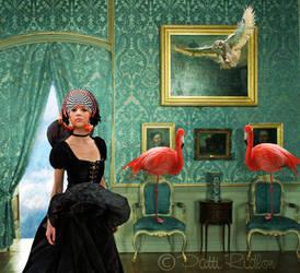Blue Flamingo4 by PattiPix